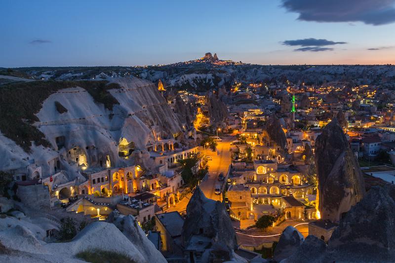 The landscape of Cappadocia , Turkey